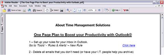 Boost your Productivity with MS Outlook 2007